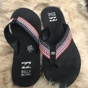 Billabong flip flops 8 to 9 woman's size